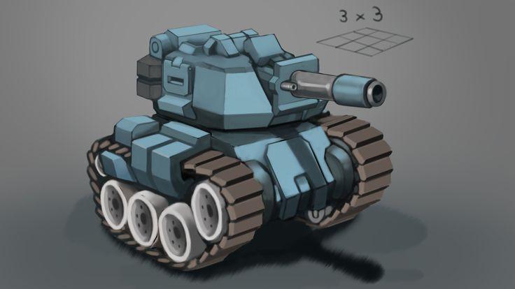ArtStation - medium tank, David Suarez
