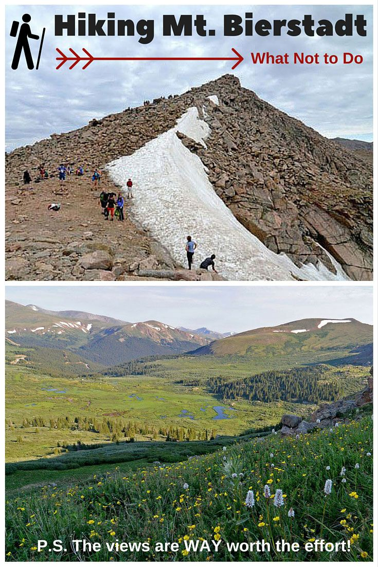 Hiking Mt. Bierstadt in Colorado is definitely a beautiful and unforgettable experience, filled with wildflowers and gorgeous views, but it would have been way more enjoyable had we not made 5 major first-time 14er mistakes! Read on for our tips for making this an enjoyable hike!