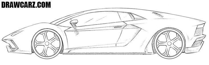Lamborghini Aventador Drawing Lamborghini Aventador Drawing