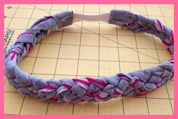 5 Strand Braided Headband from Upcycled/ Recycled Material | Step by Ste...