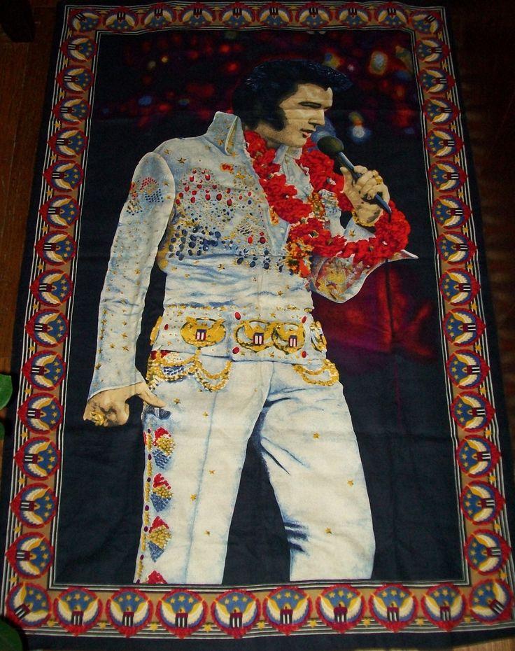 Elvis Presley Velvet Style Wall Hanging Blanket Aloha