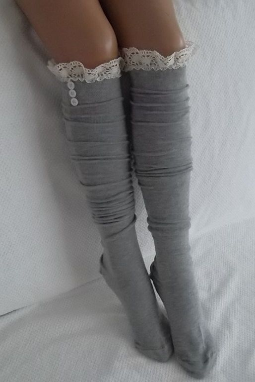 Gray Socks Boot socks boot cuffs leg warmers