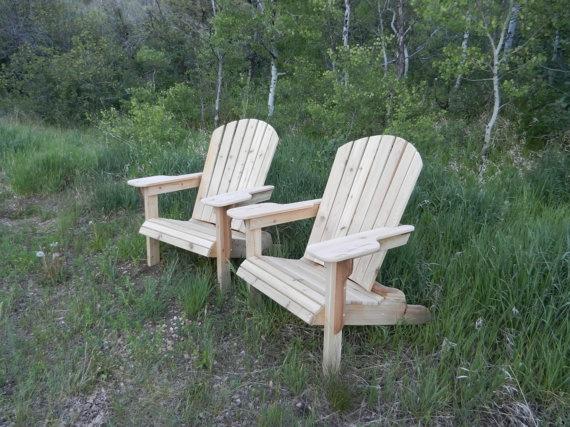 Heirloom quality cedar adirondack chair by ChokecherryLane on Etsy