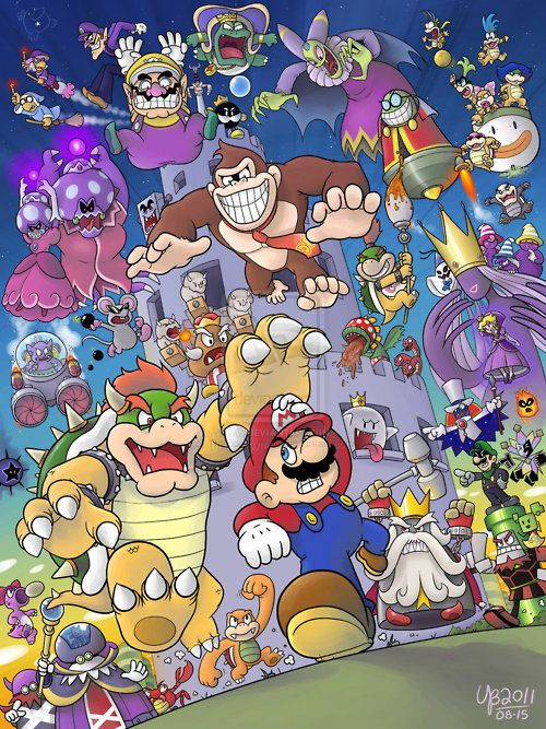 saowhit:    30 Years Of Bosses    Some cool Mario fanart.