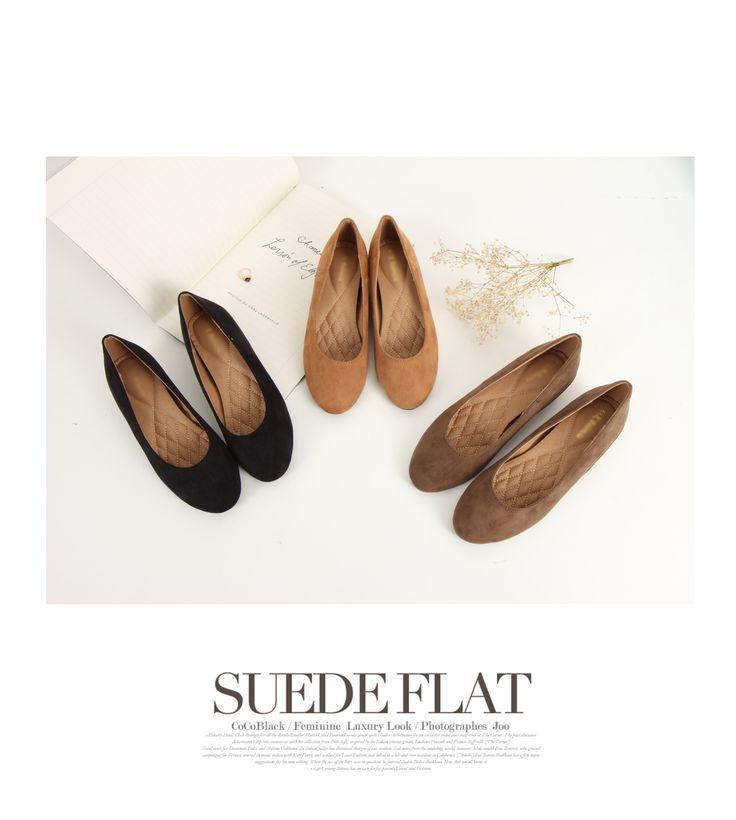 korean fashion online store [COCOBLACK] Sokgup Suede Shoes / Size : 230-250 / Price : 36.55 USD #korea #fashion #style #fashionshop #cocoblack #missyfashion #missy #shoes #flatshoes