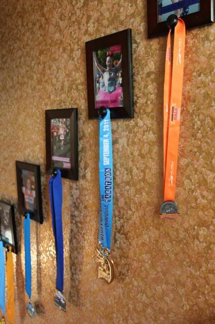 Back when I first started introducing my recent do-it-yourself projects, I mentioned completing one to display my race medals and that is what I'm sharing with you today! Pin It I have seen differe...