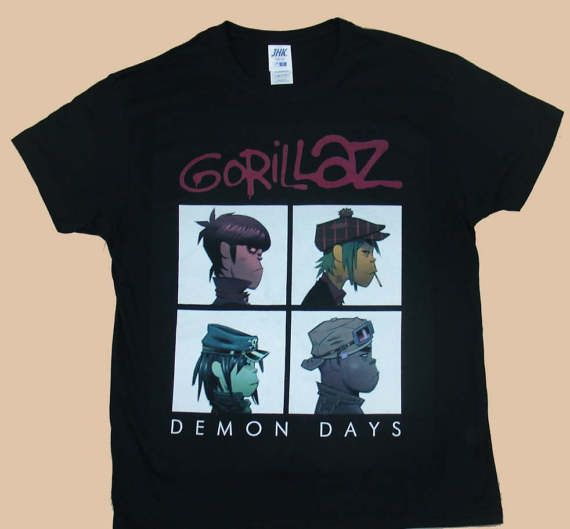 Gorillaz Demon Days, T-shirt 100% Cotton