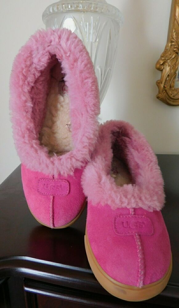 14ad04ee786 Details about UGG Womans AUSTRALIA 1871 Rylan Suede Slippers Sheep ...