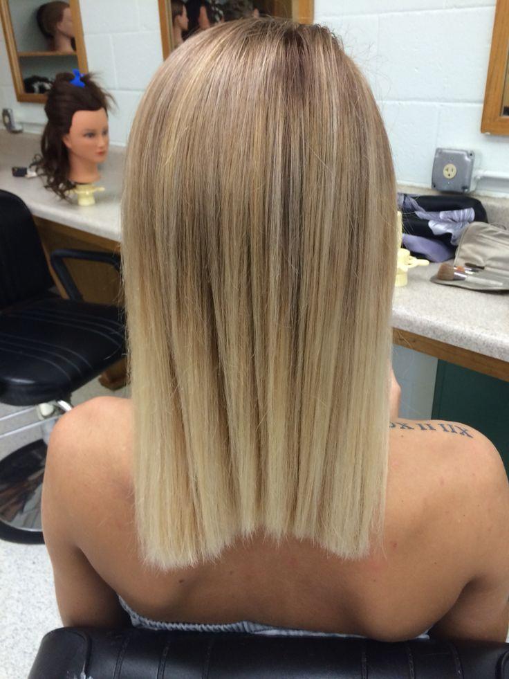1/2 & 1/2 of 7 & 8 Mocha; Matrix Socolor. Ombré Hair