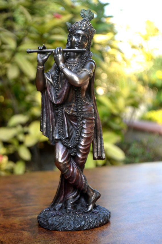 God of love Lord krishna statue Flute home by INDIACRAFTSONLINE