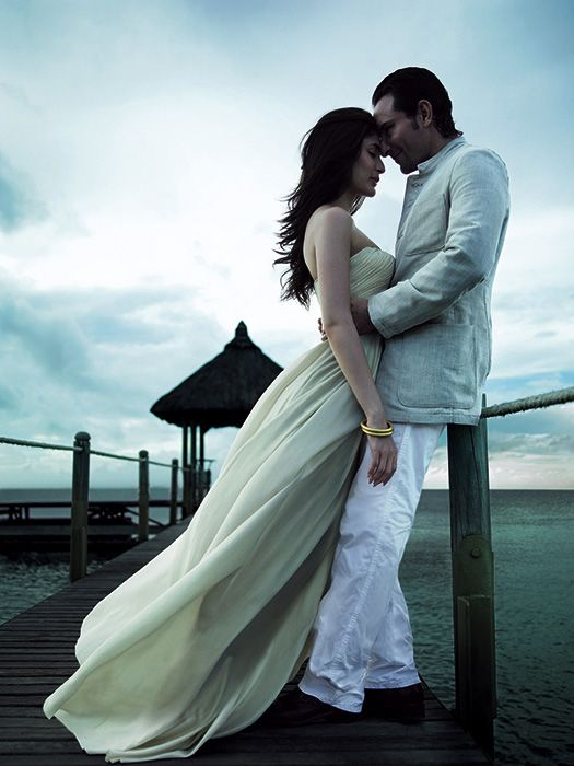 Kareena Kapoor and Saif Ali Khan in Harpers Bazaar #kareena Kapoor #fashion #ssaif ali khan