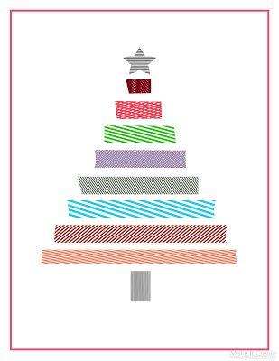 Washi Christmas Tree Printable