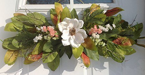 Magnolia Swag With Twigs and Flowers For Spring Summer Or Everyday Decorating Wall Swag Door Swag Wreaths For Door http://www.amazon.com/dp/B00UG1A4BS/ref=cm_sw_r_pi_dp_8MLavb0GRRTYF