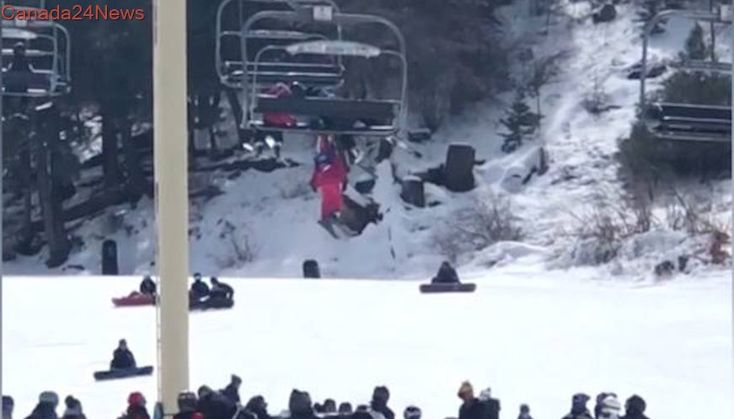 Dramatic video shows unconscious 5-year-old girl dangling from chairlift at California ski resort