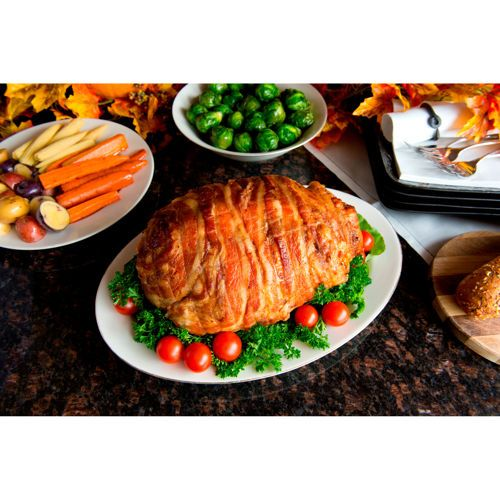 What's better then an impressive Turducken at your Super Bowl party? A Turducken wrapped in bacon! Make John Madden proud and get your Bacon Wrapped Turducken online at www.costco.com