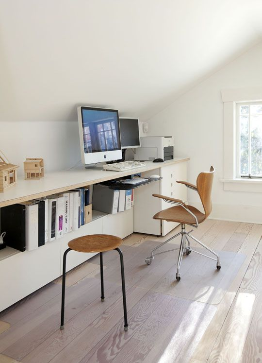 also good use of space for someone who wants to renovate an attic attic office ideas