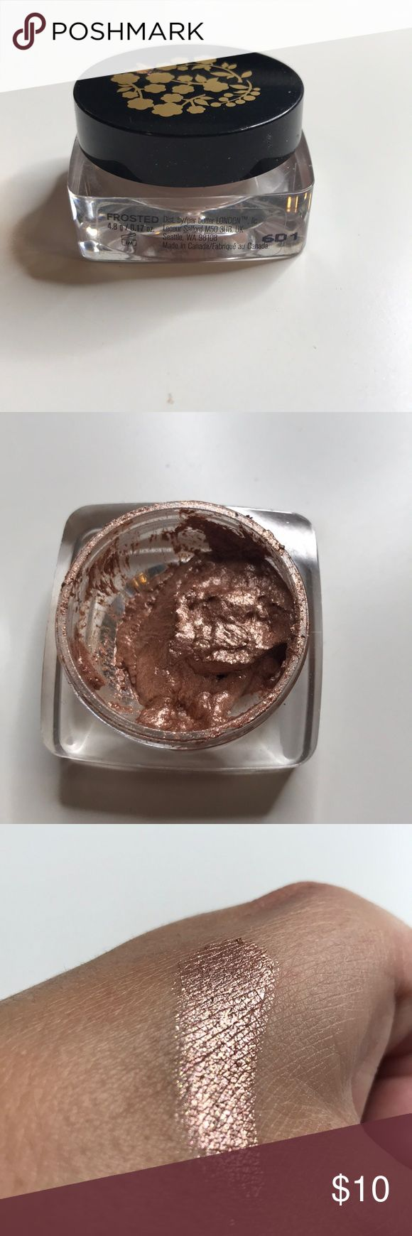 Butter London eye glaze Color is frosted. Does not crease on the eye. Has been used a few times. Has a gel consistency. Color is like a rose gold Makeup Eyeshadow