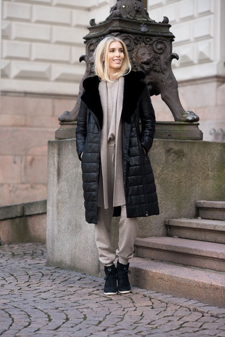 Leather coat outfit - Fall fashion