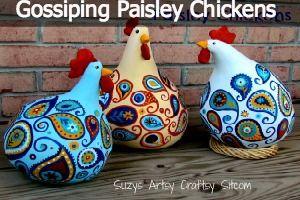 Gossiping Paisley Chickens Suzy's Artsy Craftsy Sitcom