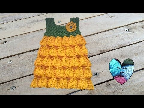 Vestido girasol tejido a crochet parte 2 / Robe tournesol au crochet partie 2 - YouTube