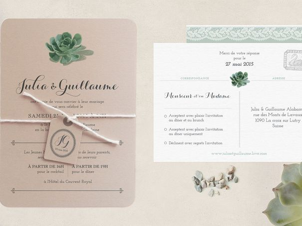 Faire part wedding invitation Nabefabric