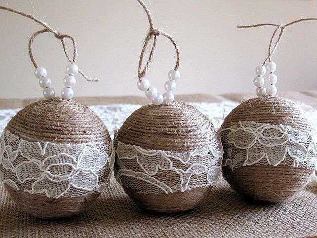 Palline di Natale fai da te con lo spago (Foto 18/39) | PourFemme
