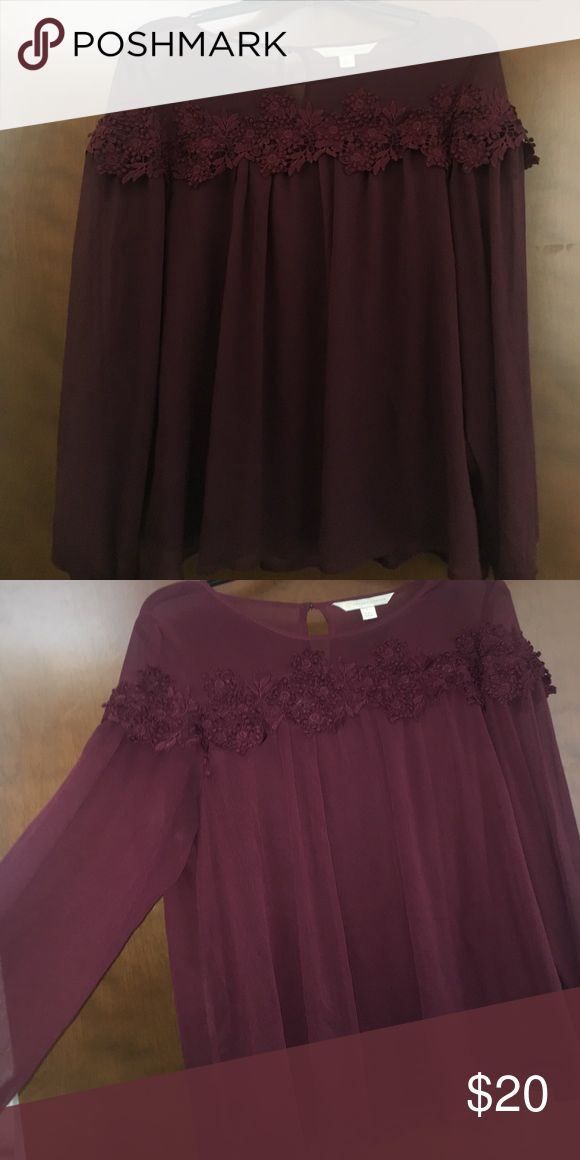 Lauren Conrad Purple Dress Shirt I wore this shirt one time and didn't like how it looked on me so it's basically brand new. I just want someone to get better use out of it than I can! LC Lauren Conrad Tops Blouses