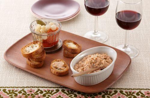 鮭缶とチーズのリエット | お酒にピッタリ!おすすめレシピ | サッポロビール