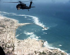 Mogadishu, Somalia---hands down the worst place I have been on the planet.