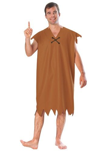 Go out in this Barney Rubble adult costume this Halloween for a prehistoric look. Go in a group as Barney and Fred Flintstone or with a Betty costume.