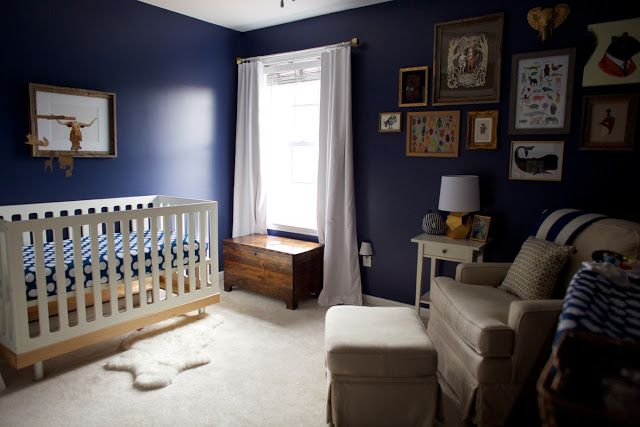 Love And Lion Max S Navy And Gold Nursery Valspar