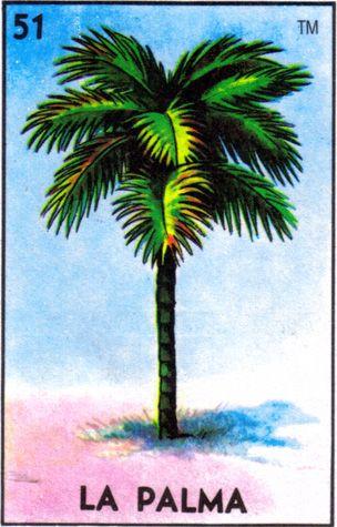 loteria, mexican, palm tree, la palma - Loteria Mexicana - Mexican Bingo