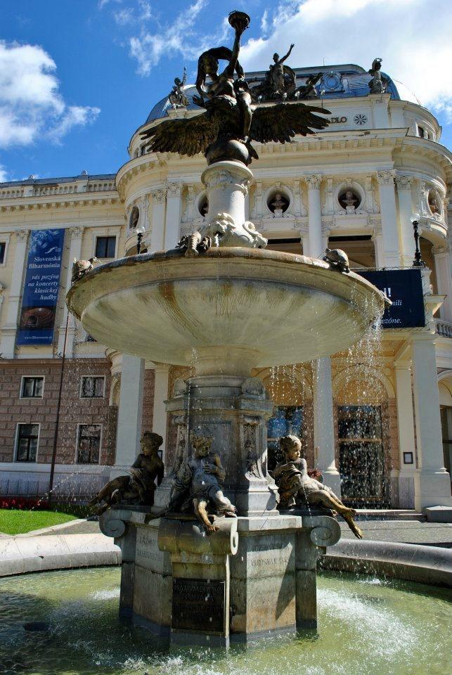 Slovakia, Bratislava - Ganymede's fountain