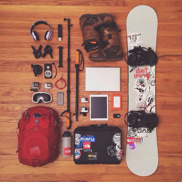 The makings of an epic #snowboard trip. (@burtonsnowboards / @thenorthface / @beatsbydre / @GoPro)