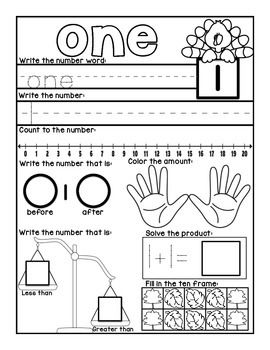 Independent Kindergarten Math Workbook: November theme! Purchase now for the entire month!!
