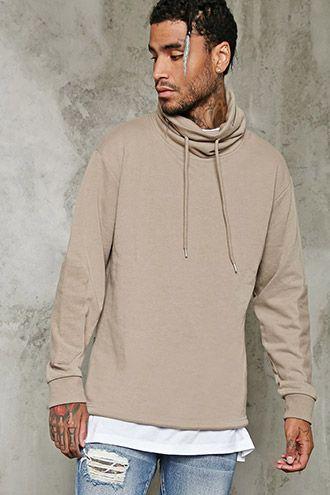 Hidden Zipper-Hood Pullover   21 MEN - 2000235560