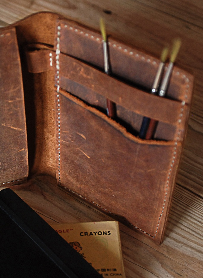 Book Cover Case : Moleskine cover leather journal small