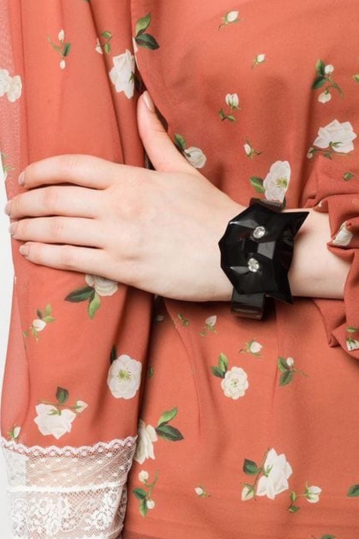 618feb96b76 Miu Miu Crystal Embellished Cat Bracelet Click to Shop this at