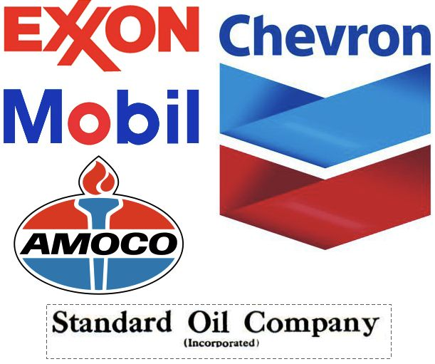The logo of Standard Oil Company's broken up parts after ...