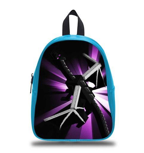Enderman Dragons Minecraft Schoolbag Backpack S M L Kids School Bag   #bag #backpack #schoolbag #kids #boy #girl #children #custom #personalized #lego #disney #cartoon #princess #book #bags #gift #elementary #son #sister #elsa #olaf #emmet #creeper #marvel #hero #movie #anime #axe #steve