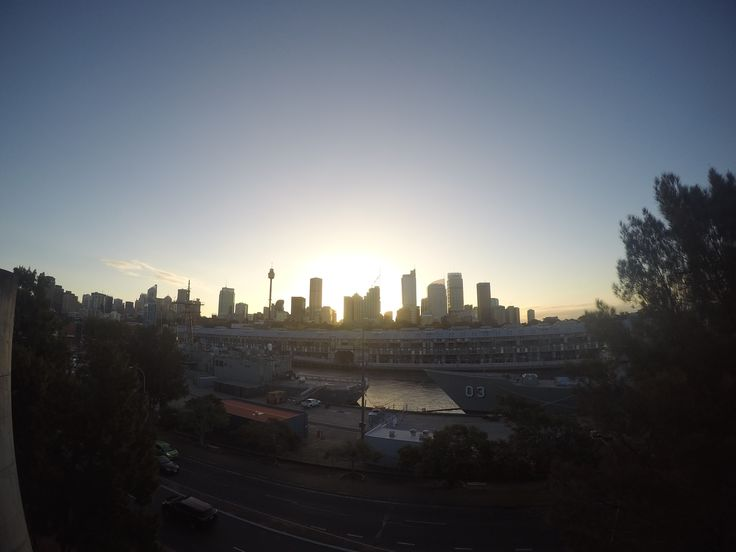 Sunset over Sydney from Potts Point.