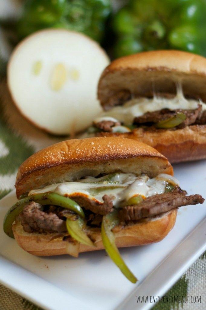 recipe: flank steak philly sandwich [18]