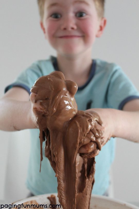 Chocolate Goop...you can make this awesome sensory stuff with only THREE household ingredients!