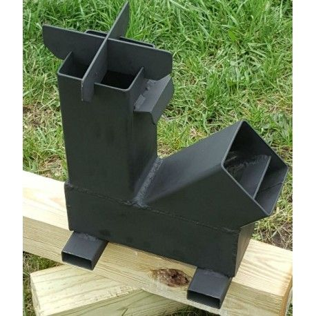 Bullet proof 308 gravity feed rocket stove stove for Heavy duty rocket stove