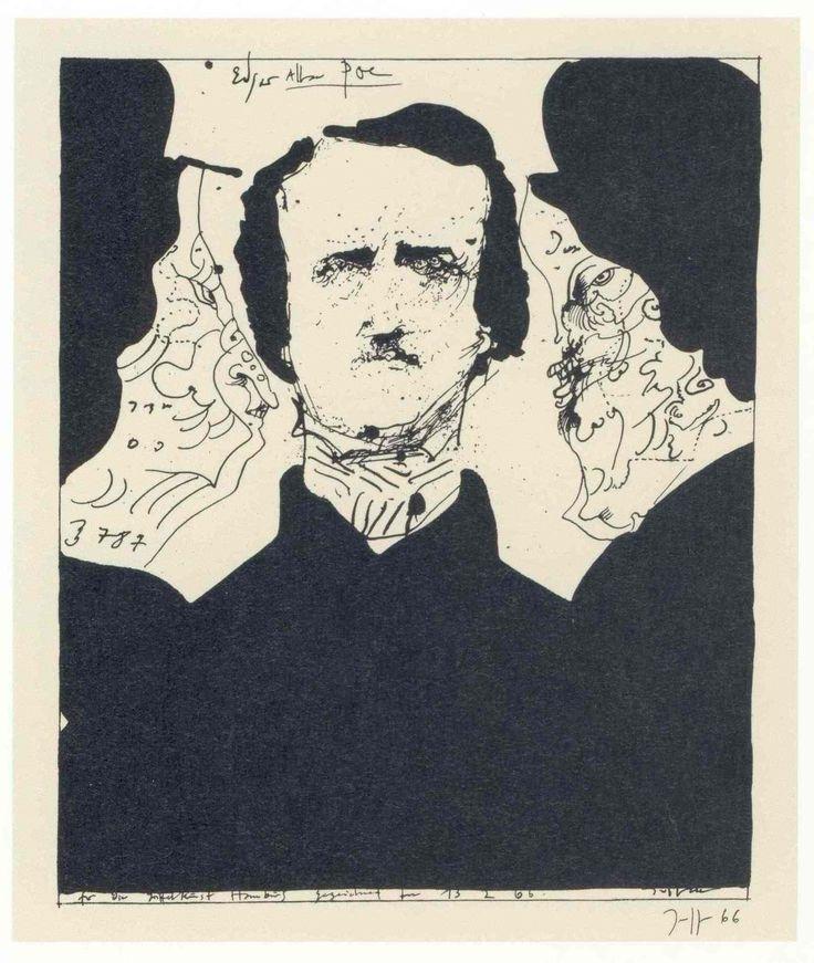 Horst Janssen, Edgar Allan Poe Graphic illustration