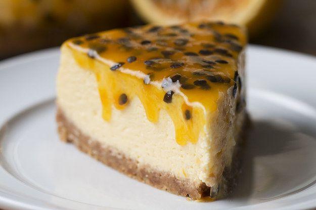 Ainda estamos sem palavras para descrever esse cheesecake de maracujá