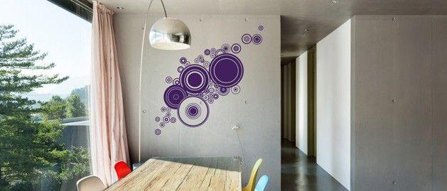 Kruhy ve zhluku (1085) / Samolepky na zeď, stěnu a nábytek