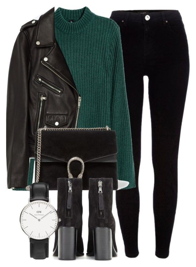 Untitled #6156 by laurenmboot on Polyvore featuring polyvore, fashion, style, Jakke, River Island, rag & bone, Gucci, Daniel Wellington and clothing