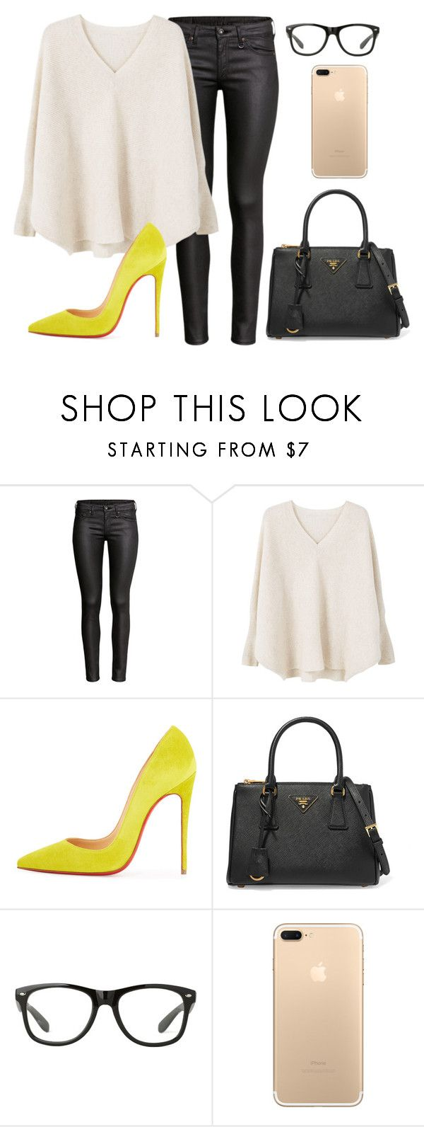 """""""Untitled #252"""" by jovanaaxx on Polyvore featuring H&M, MANGO, Christian Louboutin and Prada"""