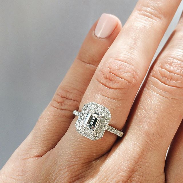 the most perfect emerald diamond halo engagement ring the. Black Bedroom Furniture Sets. Home Design Ideas